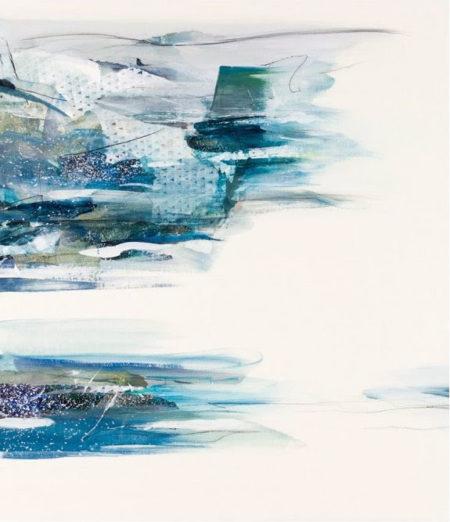 青木愛弓さんのブルーの抽象画1