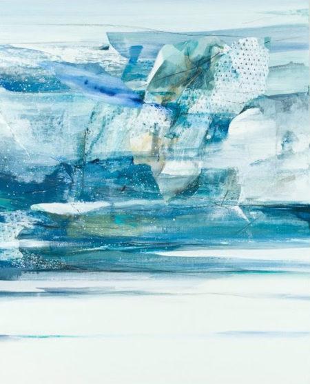 青木愛弓さんのブルーの抽象画2