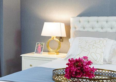 グレーの寝室、デコール東京のリフォーム事例