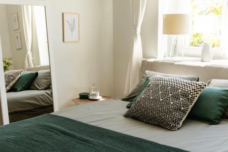 緑の寝室の事例